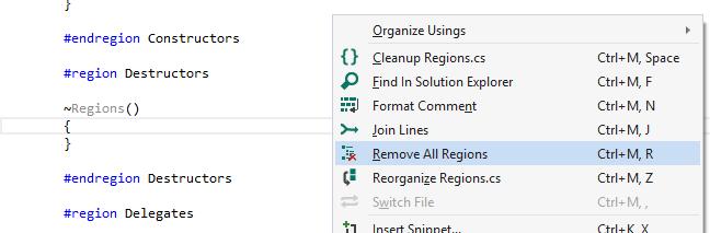 Remove All Regions