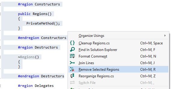 Remove Selected Regions