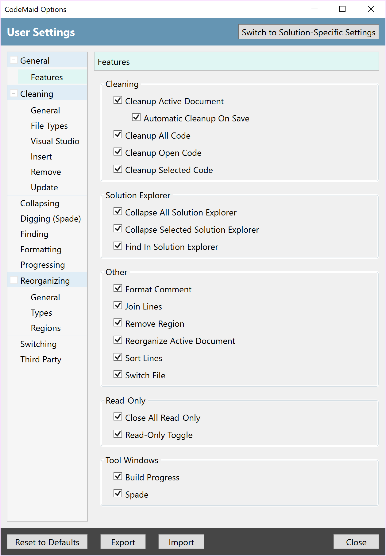 News | CodeMaid | An open source visual studio extension to